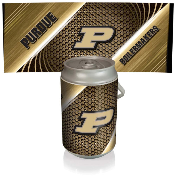 Purdue Boilermakers Mega Can Cooler with Ball Leather Graphics - Team Sports Gift