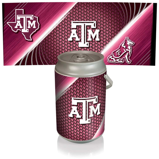 Texas A&M Aggies Mega Can Cooler with Ball Leather Graphics - Team Sports Gift