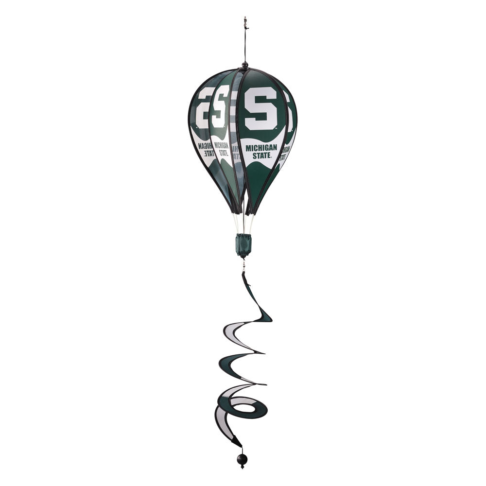 Michigan State Spartans Hot Air Balloon Wind Spinner