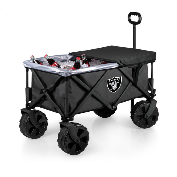 Elite Oakland Raiders Wagon, Table & Cooler as Ice Chest and Table