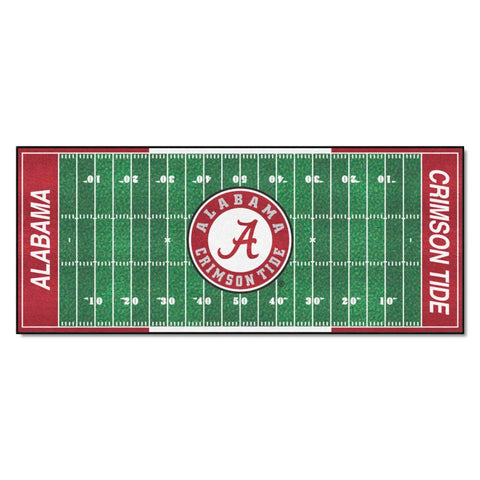 Alabama Crimson Tide Gridiron Football Runner Rug