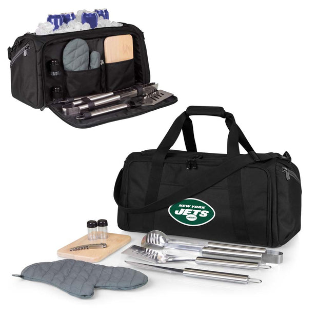 New York Jets Portable Cooler & Grill Accessories Set
