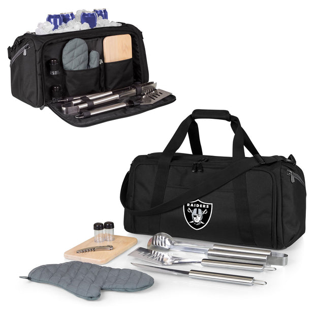 Oakland Raiders Portable Cooler & Grill Accessories Set