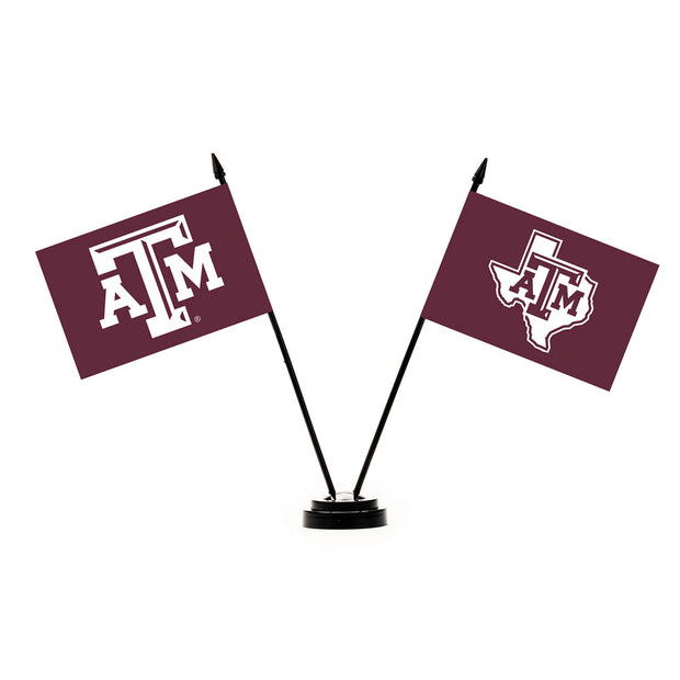 Texas A&M Aggies Desk Flag Set