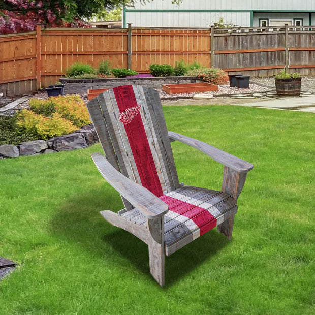 Detroit Red Wings Wooden Adirondack Patio Chair