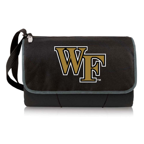 Wake Forest Demon Deacons Picnic Blanket Tote in Black