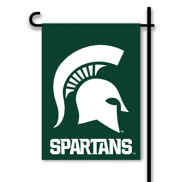 Michigan State Spartans 2-Sided Green Garden Flag - Team Sports Gift
