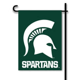 Michigan State Spartans 2-Sided Green Garden Flag