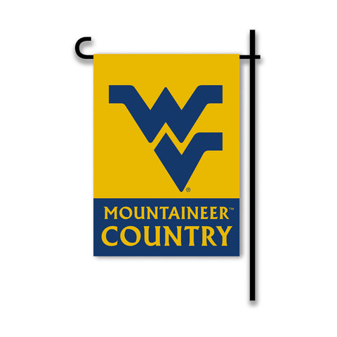 West Virginia Mountaineers 2-Sided Country Garden Flag