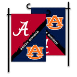 Alabama Crimson Tide vs Auburn Tigers House Divided Garden Flag