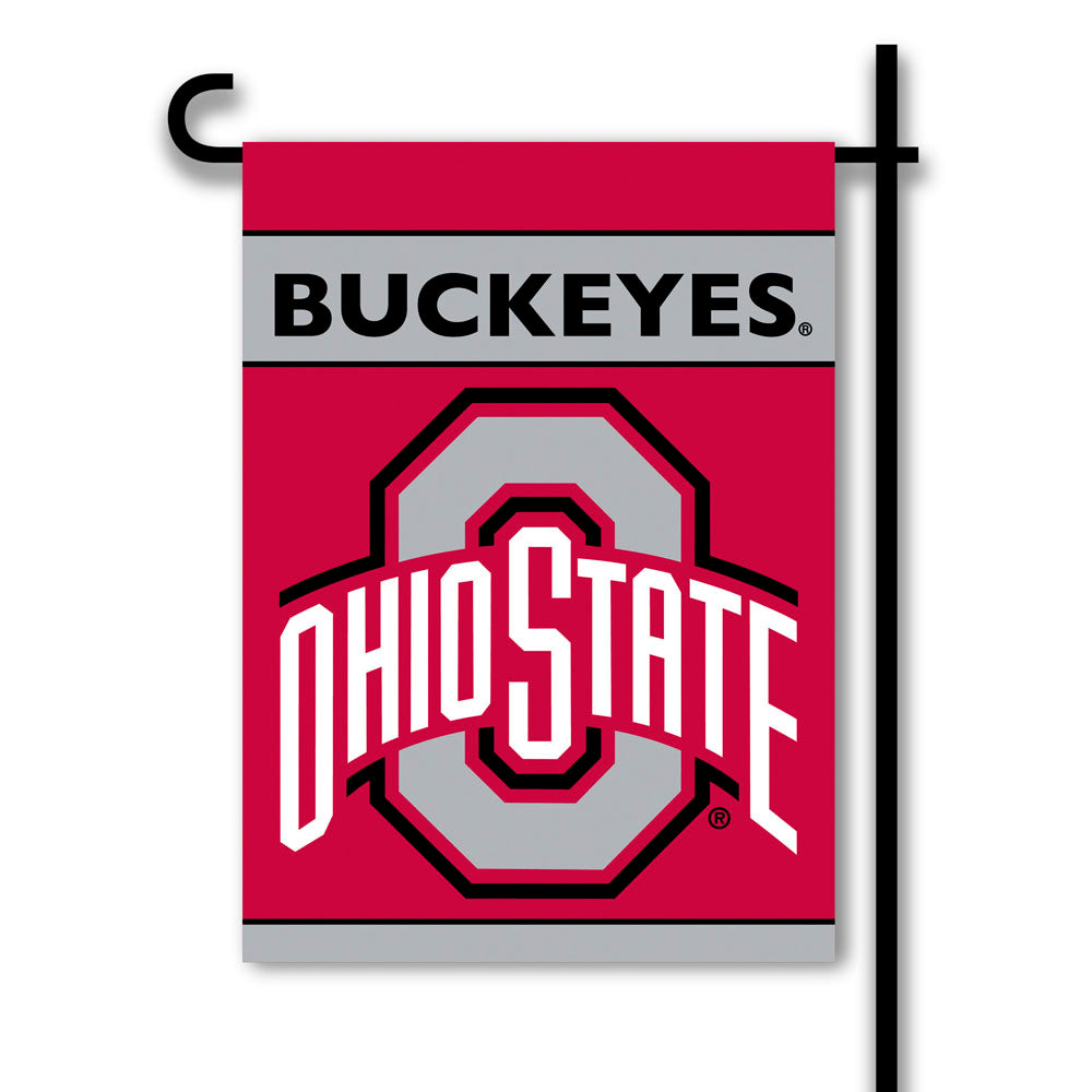 Ohio State Buckeyes 2-Sided Garden Flag