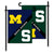 Michigan Wolverines vs Michigan State Spartans House Divided Garden Flag - Team Sports Gift