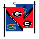 Georgia Bulldogs vs Florida Gators House Divided Garden Flag