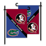 Florida Gators vs Florida State Seminoles House Divided Garden Flag
