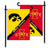 Iowa Hawkeyes vs Iowa State Cyclones House Divided Garden Flag - Team Sports Gift
