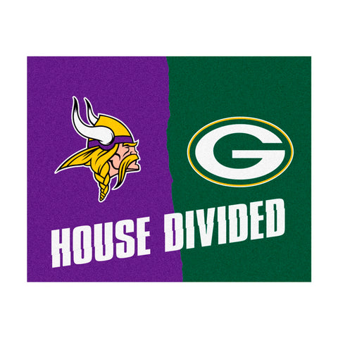Minnesota Vikings vs Green Bay Packers Rivalry Rug
