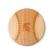 Michigan State Spartans Home Run! Baseball Cutting Board