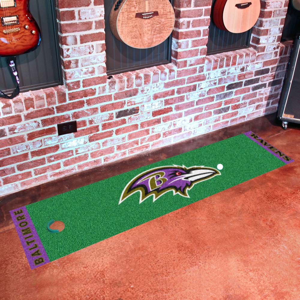 Baltimore Ravens Golf Putting Green Mat