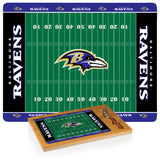 Baltimore Ravens Football Field Glass Top Cutting Board