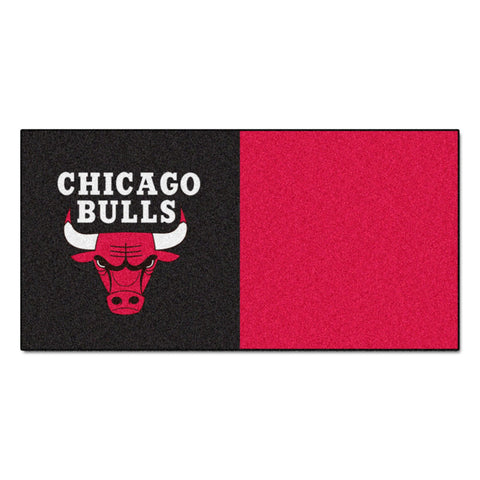 Chicago Bulls Red/Black Team Proud Carpet Tiles