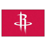 Houston Rockets Black Tufted Area Rug