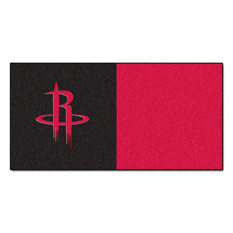 Houston Rockets Red/Black Team Proud Carpet Tiles
