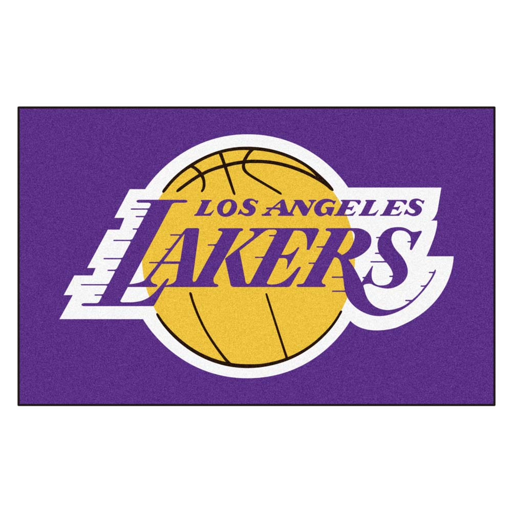 Los Angeles Lakers Black Tufted Area Rug