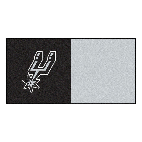San Antonio Spurs Gray/Black Team Proud Carpet Tiles