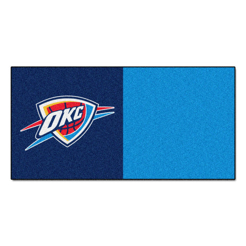 Oklahoma City Thunder Blue Team Proud Carpet Tiles