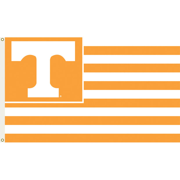 Tennessee Volunteers Team Logo Stripe Flag