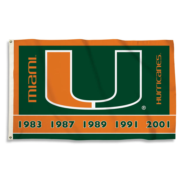 Miami Hurricanes Team Spirit Flag - Team Sports Gift