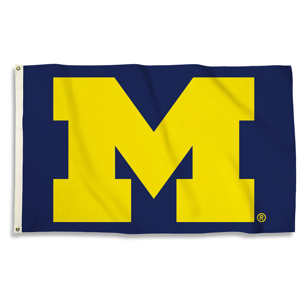 Michigan Wolverines Maize Team Logo Flag - Team Sports Gift