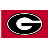 Georgia Bulldogs Red Team Logo Flag