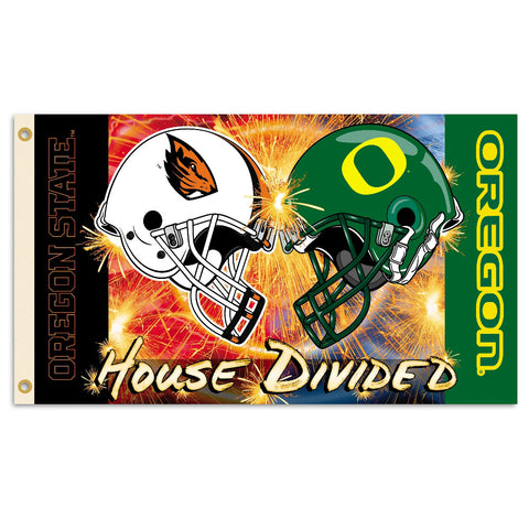 Oregon Ducks-Oregon State Beavers House Divided Flag
