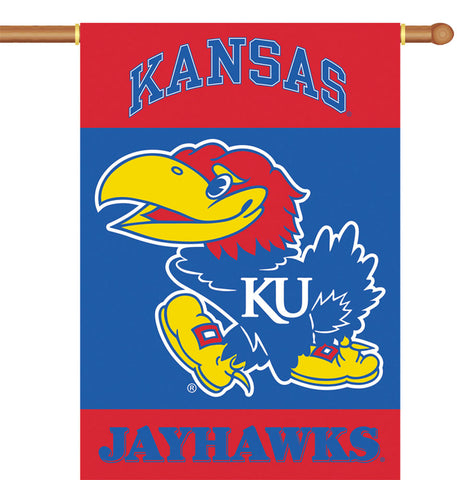 Kansas Jayhawks 2-Sided Outdoor Banner Flag