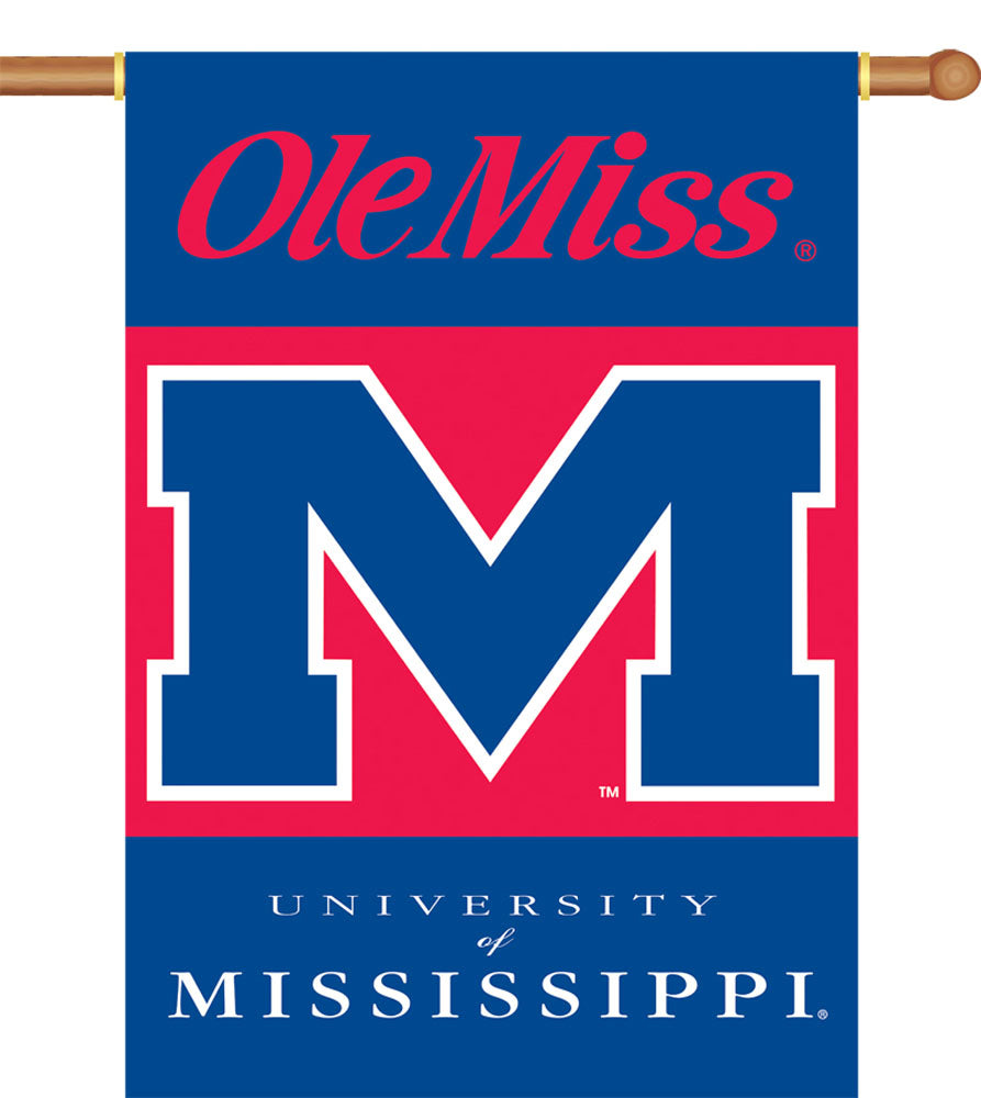 Ole Miss Rebels 2-Sided Outdoor Banner Flag