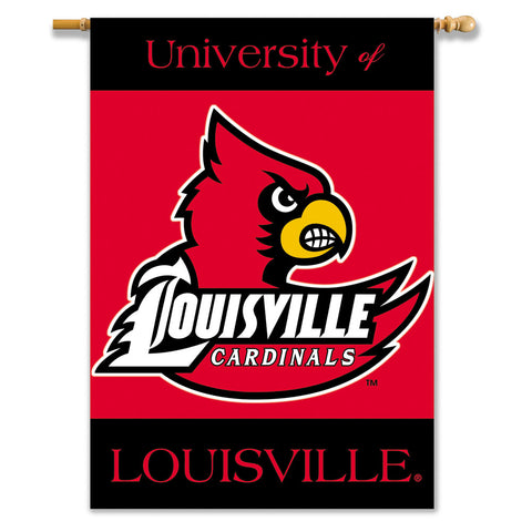 Louisville Cardinals 2-Sided Outdoor Banner Flag
