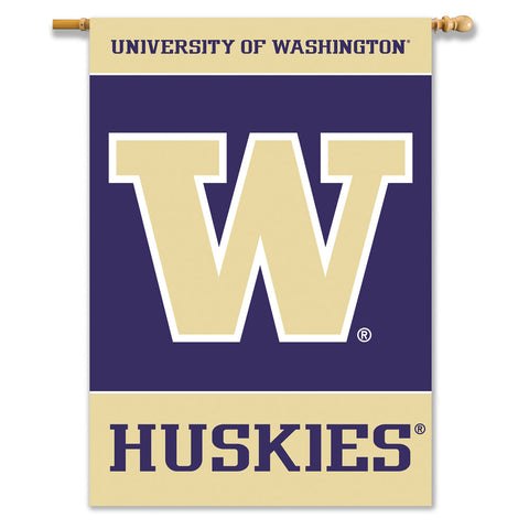 Washington Huskies 2-Sided Outdoor Banner Flag