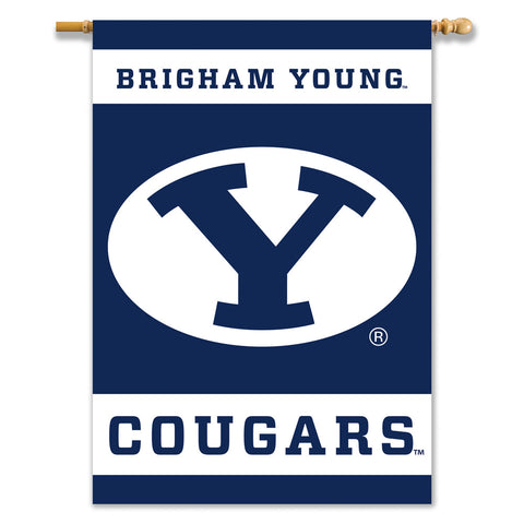 BYU Cougars 2-Sided Outdoor Banner Flag