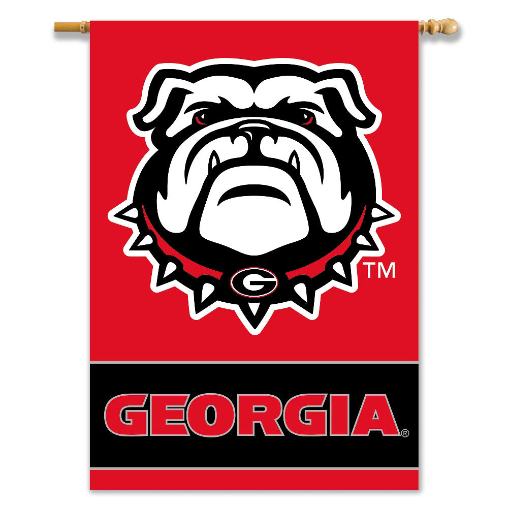 Georgia Dawg 2-Sided Outdoor Banner Flag
