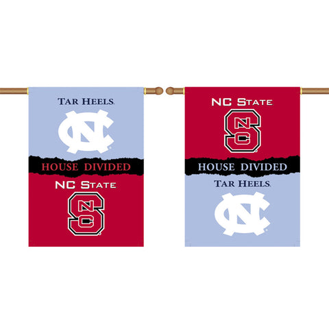 UNC Tar Heels NC State Wolfpack 2-Sided Outdoor Banner Flag