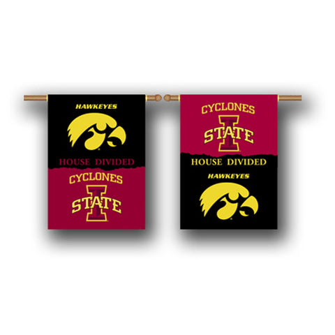Iowa Hawkeyes Iowa State Cyclones 2-Sided Outdoor Banner Flag