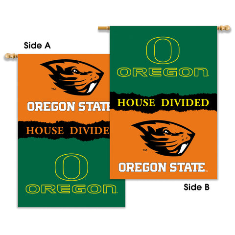 Oregon Ducks Oregon State Beavers 2-Sided Outdoor Banner Flag