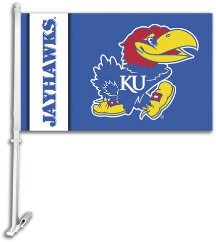 Kansas Jayhawks Team Logo Car Flag