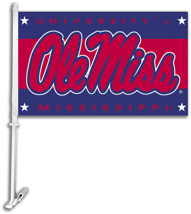 Ole Miss Rebels Team Logo Car Flag