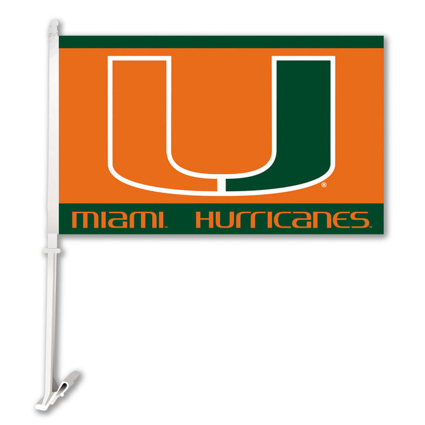 Miami Hurricanes Team Logo Car Flag