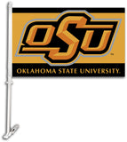 Oklahoma State Cowboys Team Logo Car Flag