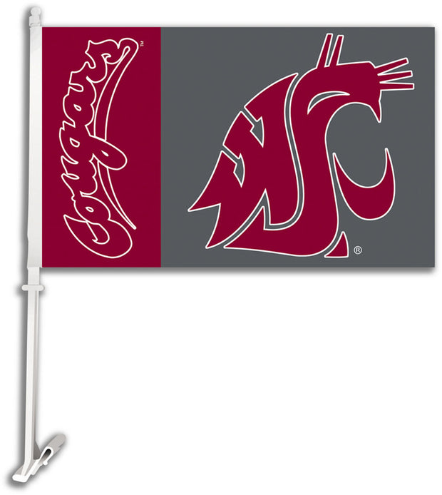 Washington State Cougars Team Logo Car Flag