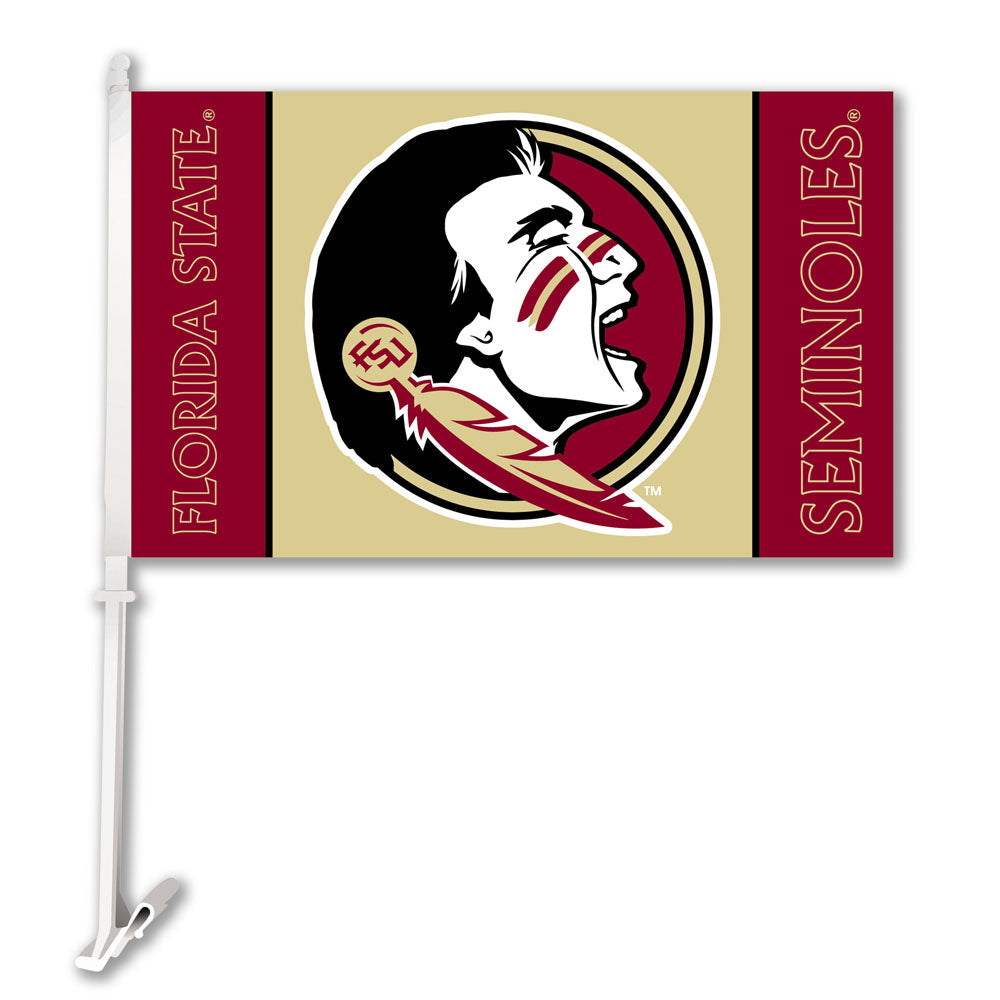 Florida State Seminoles Team Logo Car Flag