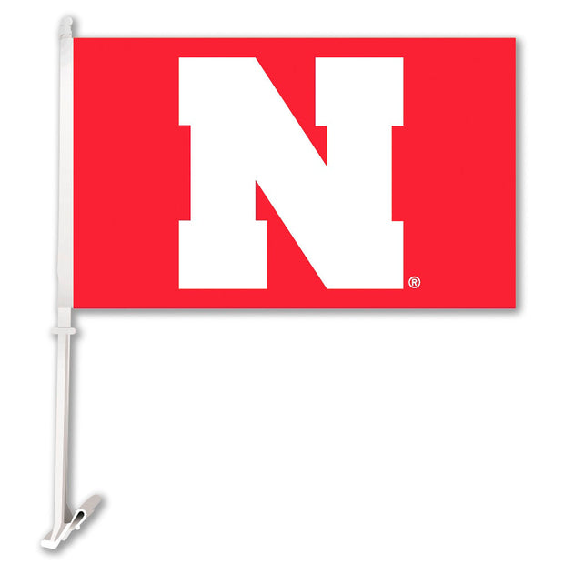 Cornhuskers N Team Logo Car Flag